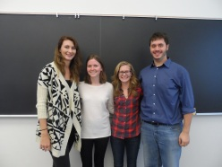 MSGA Founding Officers (Left to Right) Jenny Fry, Alex Beaman, Leah Belcher and James Peth