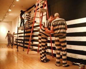 Prisoner art installation project at Arizona State University's museum (artist Gregory Sale).