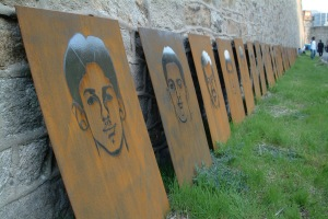 This installation at Eastern State Penitentiary (Philadelphia) by artist Nick Cassaway portrayed juvenile incarceration.