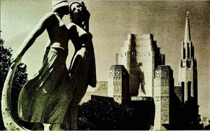 Sculptures at the 1939 World's Fair that took place on Treasure Island.