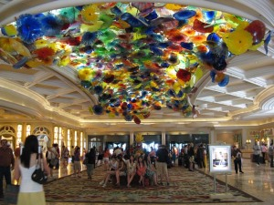 Dale Chihuly installation in Las Vegas' Bellagio casino