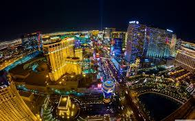 Las Vegas lit up at night