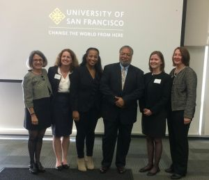 Marjorie Schwarzer, Paula Birnbaum, Mary Wardell, Lonnie Bunch, Alexa Beaman and Marly Roberts.