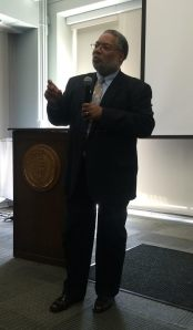 Lonnie Bunch speaking at USF.