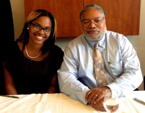 Shannon Crowner with Lonnie Bunch.