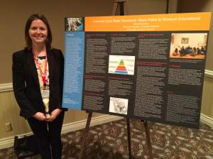 Alexa Beaman at her poster session.
