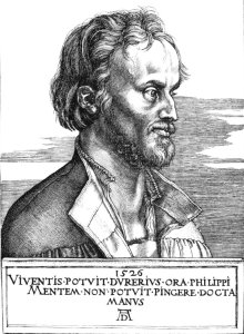 Durer's engraving of Melanchthon