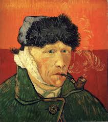Self Portrait with Bandaged Ear by Vincent Van Gogh.