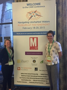 Jenna (right) and Kaitin (left) at the California Association of Museums conference in San Diego (February 2015)