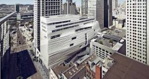 Image of the SFMOA which is currently under construction near downtown San Francisco and is sure to transform its surroundings.