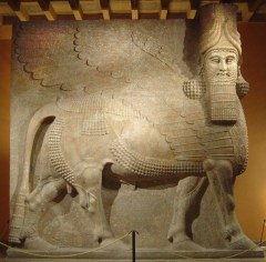 This beautiful relief once sat safely in the Mosul Museum in Iraq.