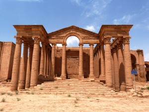 Hatra, an endangered site in Iraq