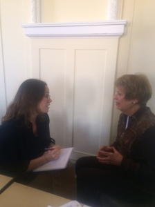 Lauren Kingsley interviewing Joyce Gardella