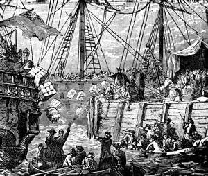 The Boston Tea Party, an early example of American activism.  Leah Belcher interprets this historic moment to the public.