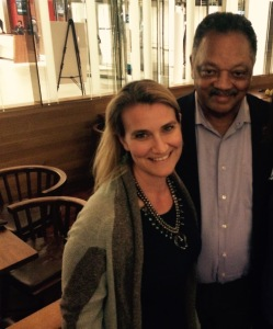 Mandy Smith with the Reverend Jesse Jackson in Atlanta in April 2015.