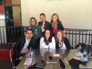 Victor, Merrill, Leah, Marjorie, Shabnam and Stephanie took time to connect for lunch during the conference. (missing from photo:  Mandy Smith).