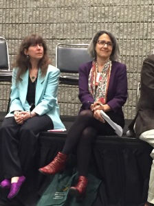 Marjorie (right) with Lois Silverman, author of Museums & Social Work, at their closing panel.