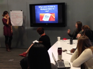 Cecile Puretz led a workshop on access for USF graduate students at the Contemporary Jewish Museum