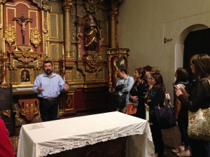 Curator Andy Galvan at Mission Dolores