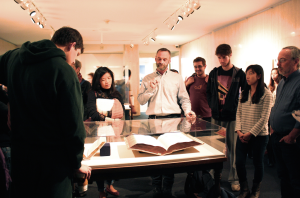 Stuart McKee gave a workshop on Renaissance typography in the Reformations exhibition