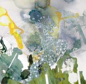 Hughen/Starkweather, Submerged 1 (detail) Gouache, ink, acrylic paint, and pencil on paper, 201