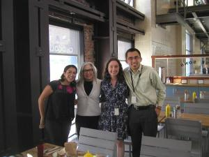 Lori Starr, Executive Director, met with Victor and the other summer interns to exchange ideas on how to improve The Museum.