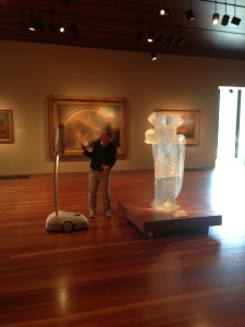 Docent Wendy Palmer discussing Karen LaMonte's Dress 3 on a Beam Tour at the de Young. Photo courtesy of the FAMSF.