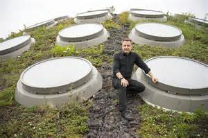 Dr. Jonathan Foley poses at on the California Academy of Sciences' green roof.