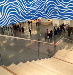 Lobby with Sol LeWitt's Loopy Doopy Mural
