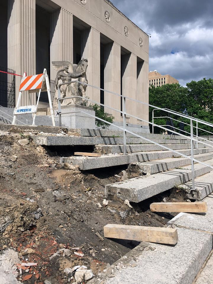 shRenovating the Building - Photo Courtesy of the Missouri  Historical Society